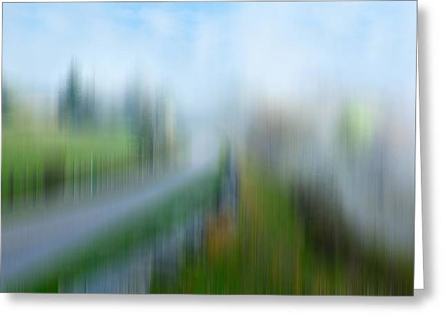 Surreal Landscape Greeting Cards - Spring Rain - a Tranquil Moments Landscape Greeting Card by Dan Carmichael
