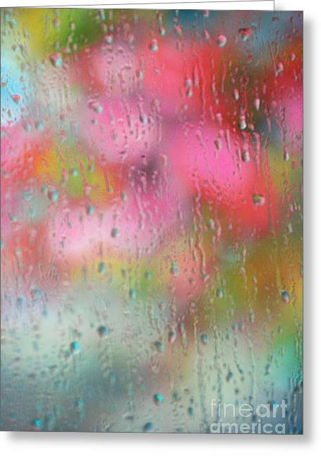 Acqua Greeting Cards - Spring Rain Reflections Greeting Card by AdSpice Studios