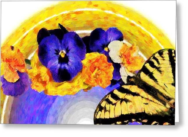 Spring Rainbow Greeting Card by Susan Leggett