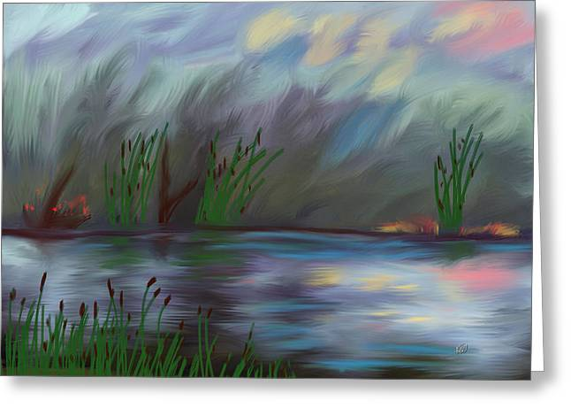 Spring Reed In The Canyon Greeting Card by Angela A Stanton