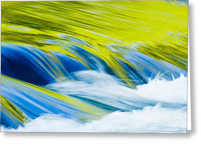 Waterfalls Greeting Cards - Spring Reflection Greeting Card by Oscar Gutierrez