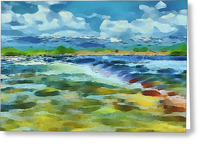 Live Art Greeting Cards - Spring River Flow Greeting Card by Yury Malkov