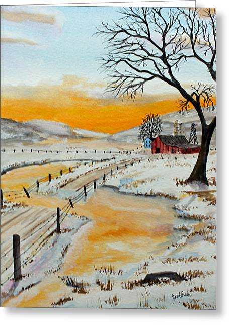 Spring Floods Paintings Greeting Cards - Spring Run Off Greeting Card by Jack G  Brauer