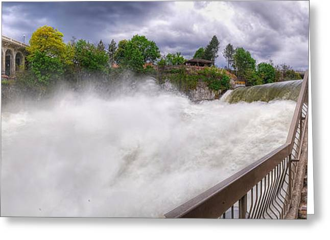 """spokane Falls"" Greeting Cards - Spring Runoff Greeting Card by Michael Gass"