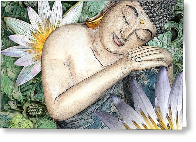 Spa work Mixed Media Greeting Cards - Spring Serenity Greeting Card by Christopher Beikmann