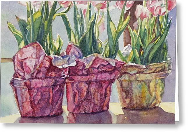 Spring Shadows Greeting Card by Jan Landini