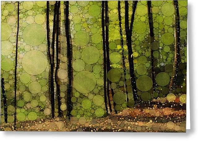 Bursting Greeting Cards - Spring Trees Greeting Card by Steven Boland