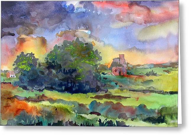 Indiana Springs Paintings Greeting Cards - Spring Storm Greeting Card by James Huntley