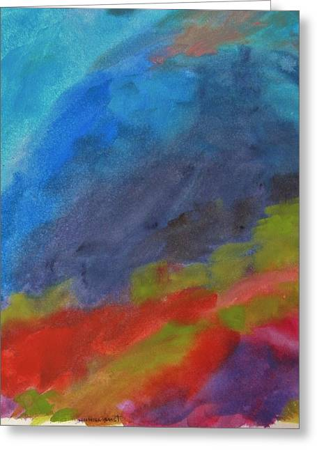 Summer Storm Drawings Greeting Cards - Spring Storm Greeting Card by John  Williams