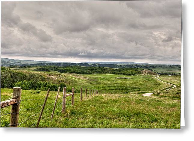 Canadian Foothills Landscape Greeting Cards - Spring Storm Over The Foothills Greeting Card by Heather Simonds