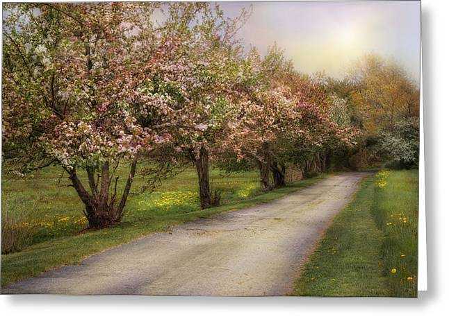 Spring Street Greeting Cards - Spring Street Greeting Card by Robin-lee Vieira