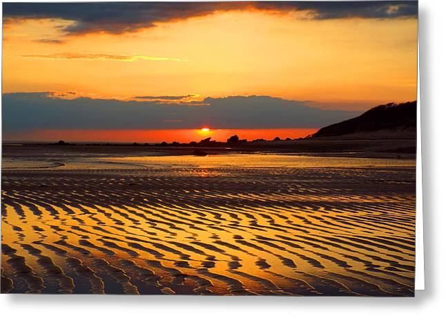 East Dennis Ma Greeting Cards - Spring Sunrise Greeting Card by Dianne Cowen