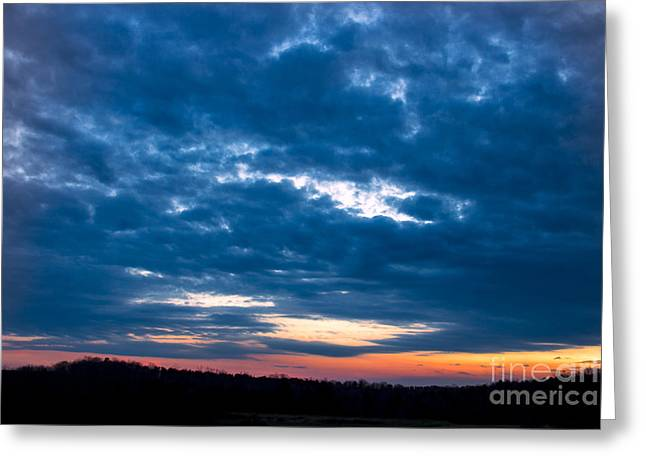 Birght Greeting Cards - Spring Sunset Greeting Card by Michael Waters