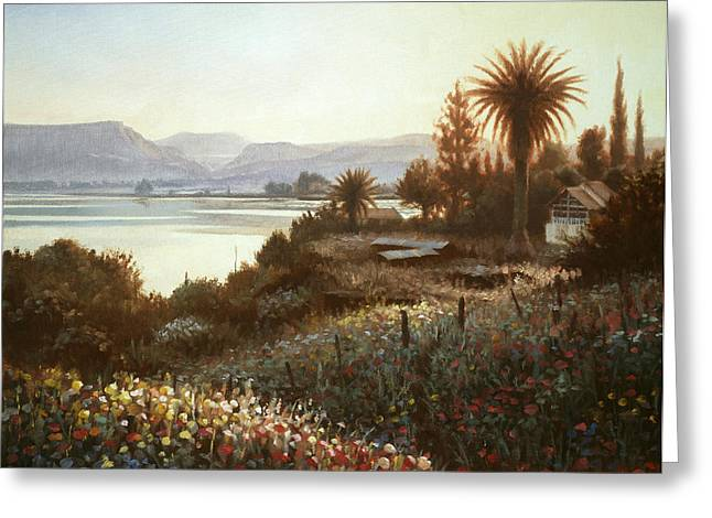 Galilee Greeting Cards - Spring Sunset  Northern Galilee Greeting Card by Graham Braddock