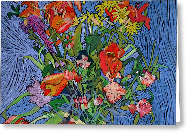 Flower Arrangements Greeting Cards - Spring Symphony Greeting Card by Frances Treanor