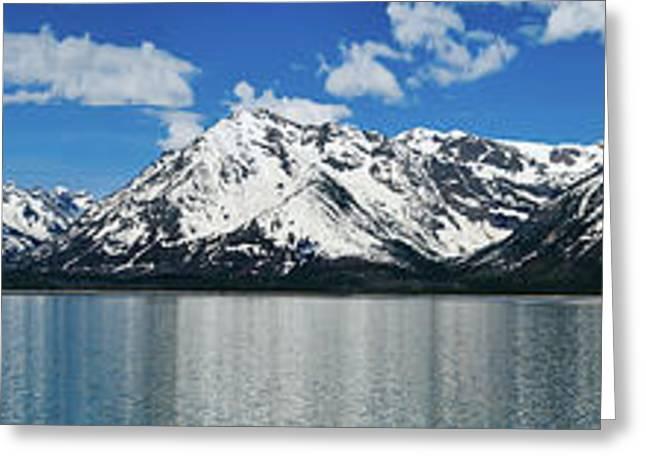 Grand Tetons Greeting Cards - Spring Teton Panorama Greeting Card by Greg Norrell