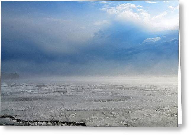Maine Spring Digital Greeting Cards - Spring Thaw Big Indian Lake Maine Greeting Card by Lisa Purcell