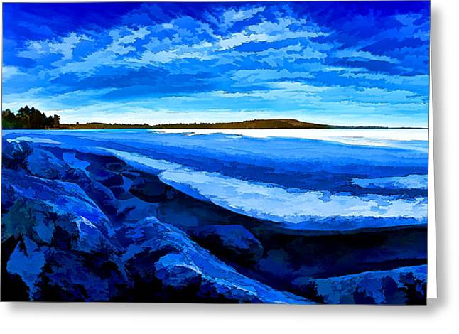 Maine Spring Greeting Cards - Spring Thaw - Painterly Greeting Card by Bill Caldwell -        ABeautifulSky Photography