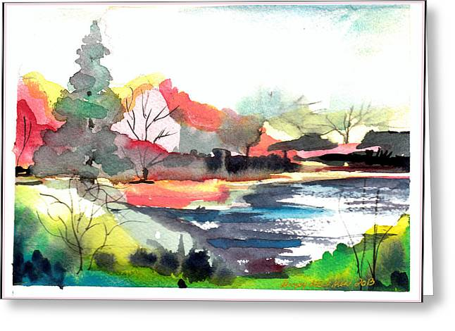 Dogwood Lake Greeting Cards - Spring Time on the Farm Greeting Card by Mindy Newman