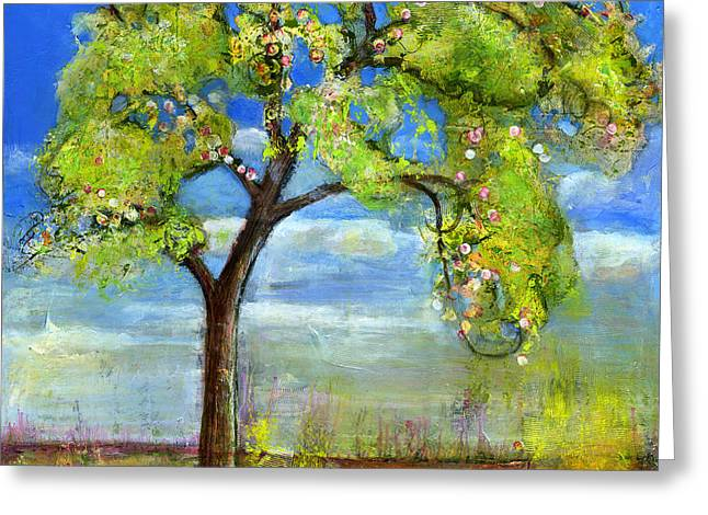 Blenda Greeting Cards - Spring Tree Art Greeting Card by Blenda Studio