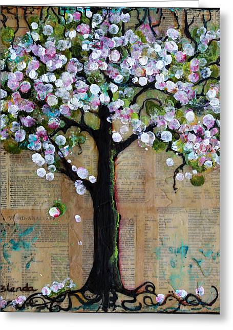 Spring Tree  Greeting Card by Blenda Studio