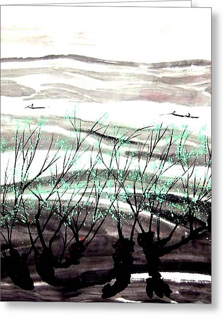 Mud Season Greeting Cards - Spring Tree Greeting Card by Clement Tsang