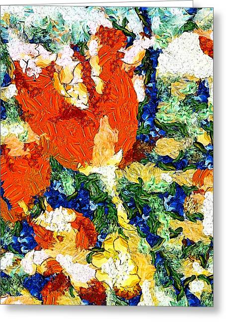 Dap Greeting Cards - Spring Tulip Van Gogh Greeting Card by Shannon Story