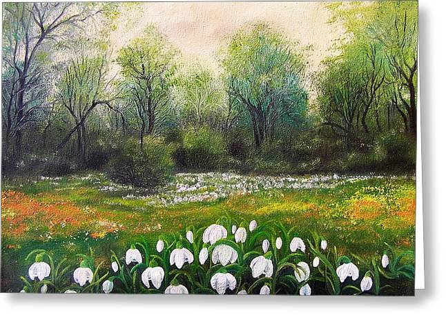 Flowers Greeting Cards - Spring Greeting Card by Vesna Martinjak