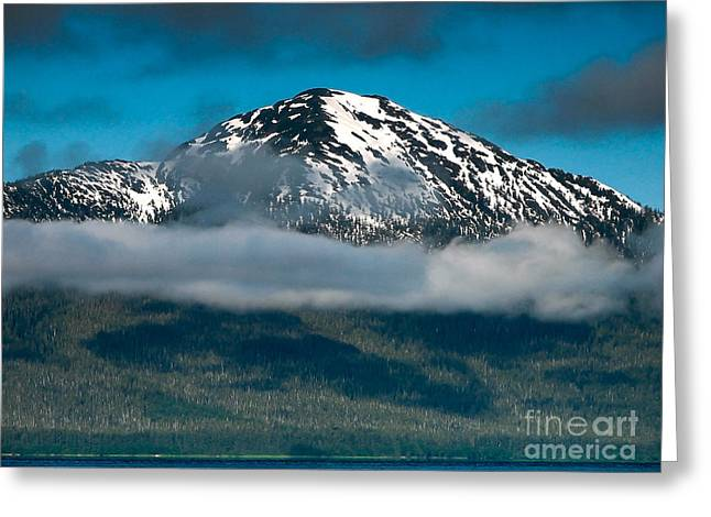 Alaska Panhandle Greeting Cards - Spring View of the Mountain Greeting Card by Robert Bales