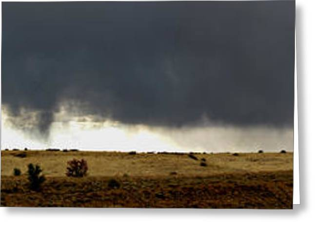 Prescott Greeting Cards - Spring Virga Panoramic Greeting Card by Aaron Burrows
