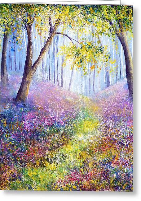 Kinkade Greeting Cards - Spring Welcome Greeting Card by Ann Marie Bone