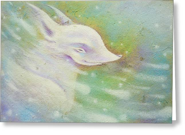 Doggy Pastels Greeting Cards - Spring Wind Greeting Card by Anna Petrova