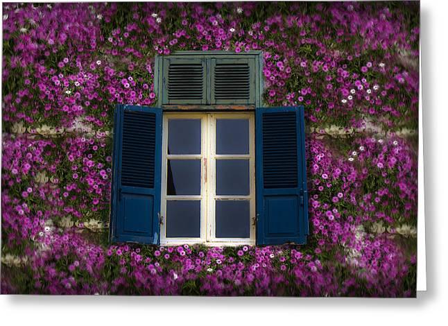 Spring Window Greeting Card by Radoslav Nedelchev