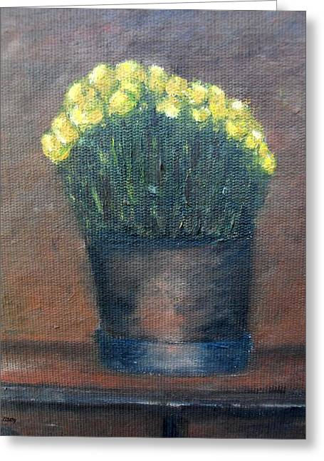 Tablets Paintings Greeting Cards - Spring Yellow Greeting Card by Patrick J Murphy