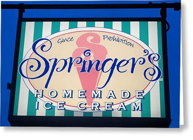 Fashion Art For House Greeting Cards - Springers Ice Cream Stone Harbor Greeting Card by Andrea Rea