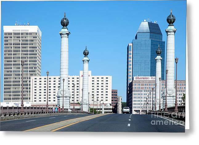 Marriot Greeting Cards - Springfield Memorial Bridge Greeting Card by Bill Cobb