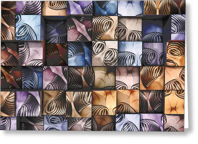 Photography-based Greeting Cards - Springs and Squares Greeting Card by Scott Norris