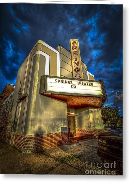 Stucco Greeting Cards - Springs Theater Co Greeting Card by Marvin Spates