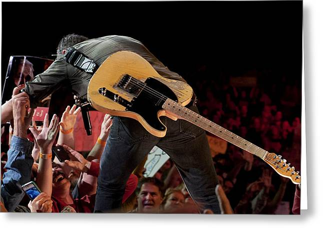 Jeff Ross Greeting Cards - Springsteen in Charlotte Greeting Card by Jeff Ross