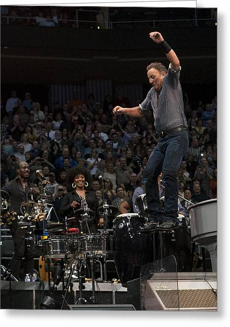 Jeff Ross Greeting Cards - Springsteen in Motion Greeting Card by Jeff Ross