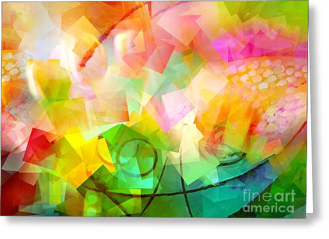 Color.spring Greeting Cards - Springtime Abstract Greeting Card by Lutz Baar