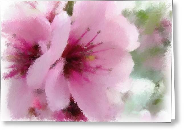Fushia Mixed Media Greeting Cards - Springtime Beauty Greeting Card by Renee Skiba