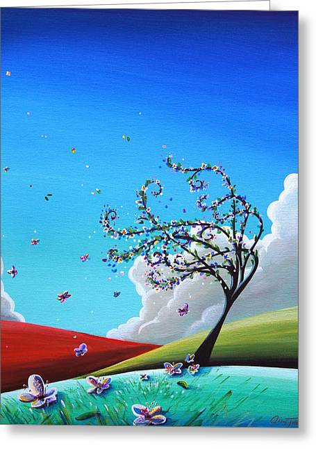 Illustrative Paintings Greeting Cards - Springtime Greeting Card by Cindy Thornton