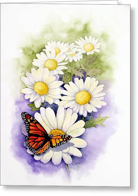 Springtime Daisies  Greeting Card by Brett Winn