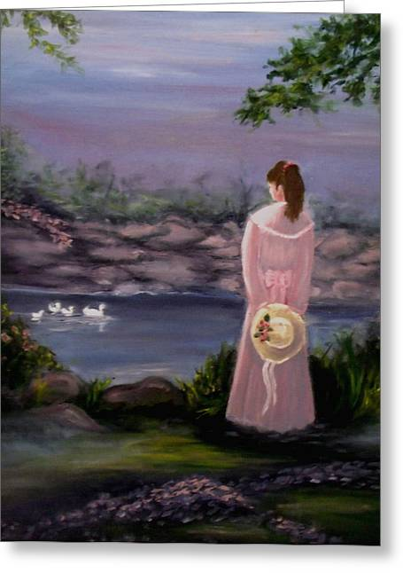 Floating Girl Greeting Cards - Springtime Dreamin Greeting Card by Tammy Rogers