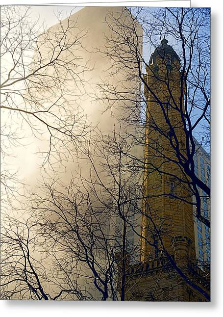 Old Chicago Water Tower Greeting Cards - Springtime in Chicago Greeting Card by Steven Sparks