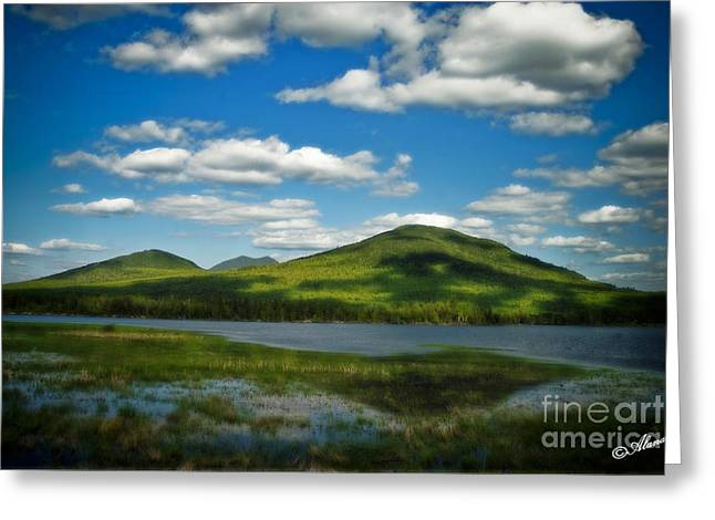 Maine Spring Greeting Cards - Springtime in the Bigelow mountains Greeting Card by Alana Ranney