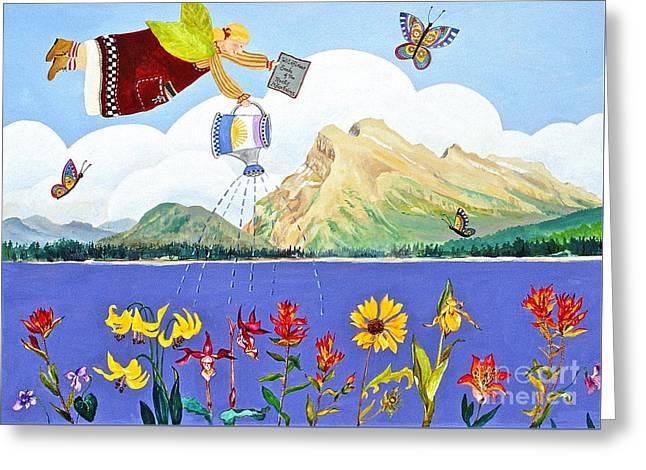 Springtime In The Rockies Greeting Card by Virginia Ann Hemingson