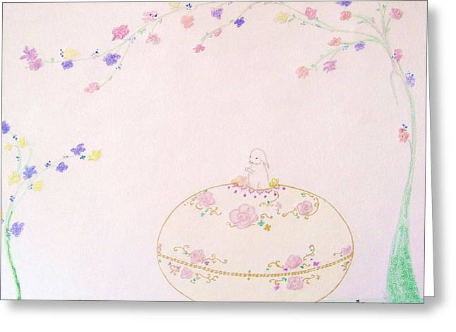 Fantasy Tree Art Pastels Greeting Cards - Springtime is Here Greeting Card by Christine Corretti