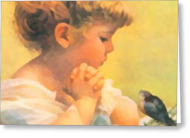 Springtime of Life Greeting Card by Bessie Pease Gutmann